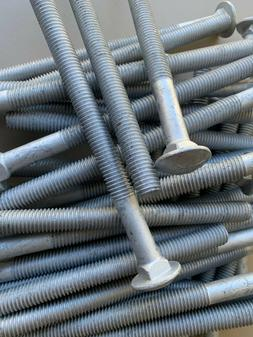 25 Carriage Head Bolt 1/2-13 x 7 Galvanized 307A with NUTS &