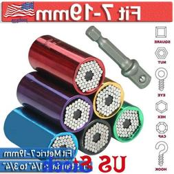 7-19mm Universal Socket Wrench Grip Power Drill Adapter Nut