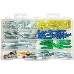 Anchor Assortment Kit Anchors, Molly Bolts, Screws, Toggle W
