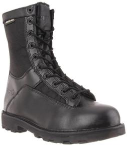 Bates Men's 8 Inches Durashocks Lace-to-Toe Work Boot, Black