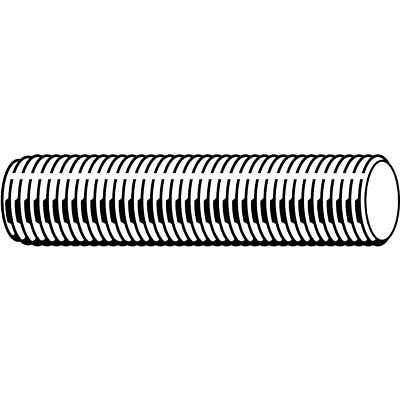 FABORY U20300.019.7200 #10-24 x 6/' Zinc Plated Low Carbon Steel Threaded Rod