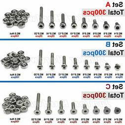 New high quality 300pcs M2.5 Allen Bolts With Nuts Screws As